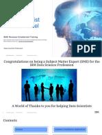 Data Scientist Career Model SME Enablement Training _Nov 13 2018