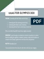Ragu's Ideas for Olympics 2020