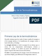 Sesión 22 Calorimetría y Primera Ley de la Termodínamica