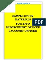 EPFO SAMPLE STUDY MATERIALS