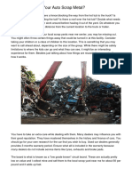 What To Do With Your Auto Scrap Metal?