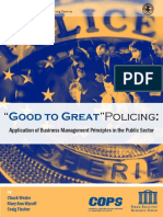 good to great policing - application of business management principles in the public sector 2007