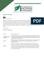 FPE-supported Priority Conservation Sites - Mt. Nacolod Range