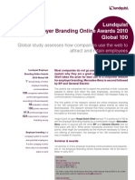 Employer Branding Online Awards Global 2010 Executive Summary