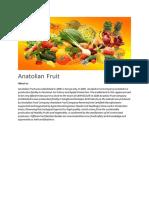 Anatolian Fruit