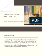 Introduction to Accounting & branches of accounting