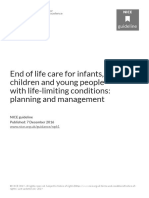 NICE End of Life Care for Infants Children and Young People With Lifelimiting Conditions Planning and Management