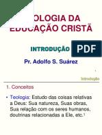TEOLOGIA DA EDUCAÇÃO CRISTÃ.cap 1