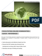Quick Reference Guide for CoP Facilitators FINAL