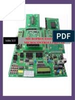 MICROPROCESSORS & MICROCONTROLLERS LAB