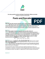 Poets and Pancakes Important Questions and Answers.pdf