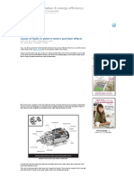 Causes of faults in electric motors and their effects