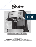 Oster Prima Latte Manual