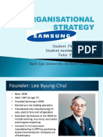 ORGANISATIONAL STRATEGY SAMSUNG GROUP