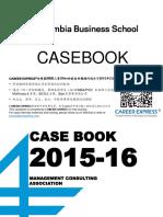 Columbia CBS Casebook Consulting Case Interview Book 2016哥伦比亚商学院咨询案例面试