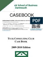 Dartmouth Tuck Casebook Consulting Case Interview Book 2009_2010达特茅斯大学塔克商学院咨询案例面试