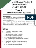 Tema 1. Análisis del Sistema Impositivo