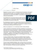 Measuring Engagement White Paper from the AOP and GfK NOP