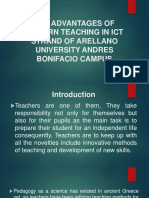 The Advantages of Modern Teaching in Ict Strand