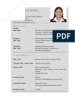 sample CV Format for Research
