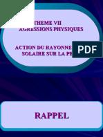 Action Des Rayonnements Solaires Sur La Peau
