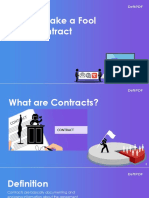 How to Make a Foolproof Contract