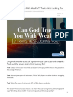 Can God Trust You With Wealth (7 Traits Hes Looking For)
