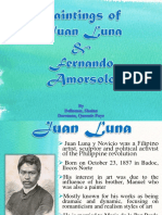 Paintings of Juan Luna and Amorsolo