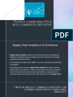 SUPPLY CHAIN ANALYTICS IN E-COMMERCE INDUSTRY