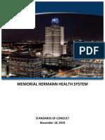 Memorial Herman Standards of Conduct