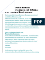 Environment in Human Resource Management