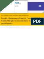 Noticias Premio Hispanoamericano de Cuento Gabriel García Márquez 2017 anuncia su listado de partici.pdf