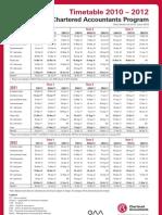 CAP Timetable 2010-2012