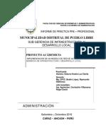 INFORME DE PRACTICAS PRE - PROFESIONALES