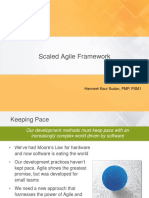 PMI SAFe Scaled Agile Framework