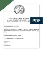 SEMINARIO TEMÁTICO - TEORÍA Y PRÁCTICA MÉDICA EN LA ÉPOCA DE LAS CRUZADAS (GREIF) - 1C 2019