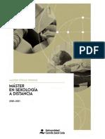Folleto Master en Sexologia a Distancia. UCJC. Curso 2020-2021