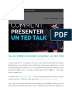 Comment présenter un Ted Talk - Spitch Consulting