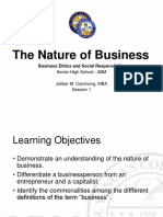 Lesson 1 - The Nature of Business