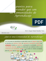 Apuntes sobre Comunidades de Aprendizaje