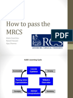 How to Pass the MRCS Presentation