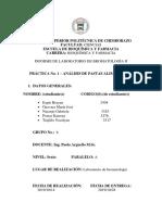 Informe bromatología análisis de pastas