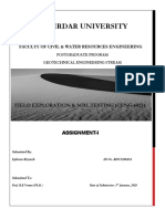 Assignment I Field Exploration & Soil Testing.docx