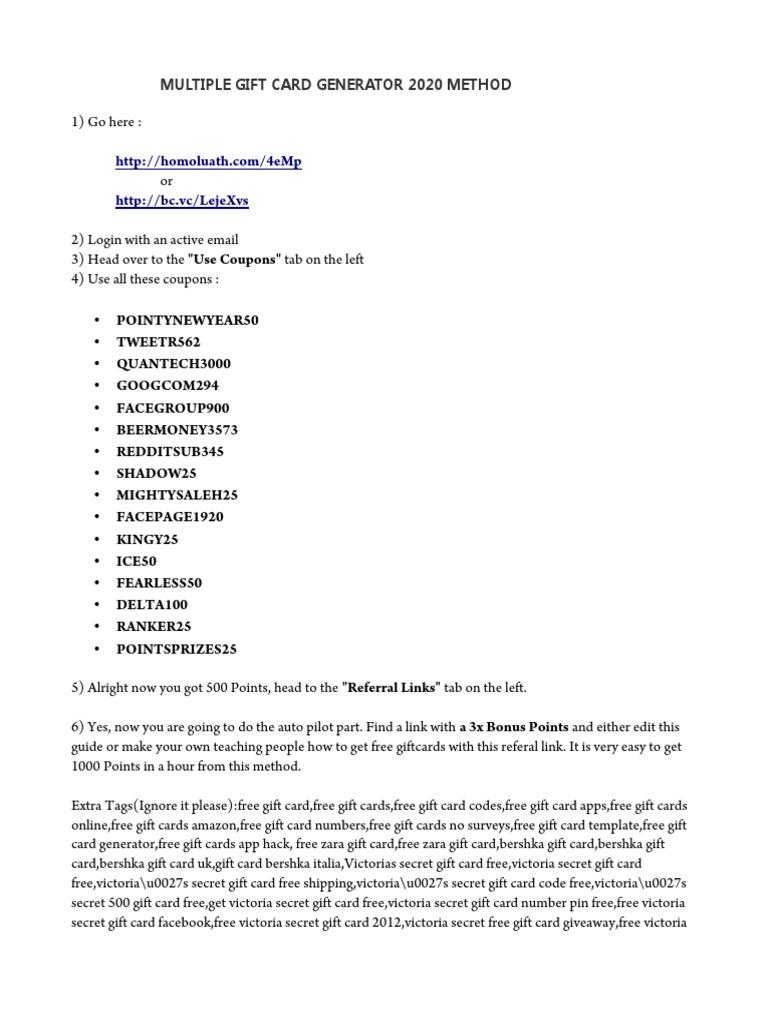 Pastebin Roblox Hack Bc Multiple Giftcard Generator 2020 Gift Card Proxy Server