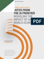 Modeling The Impact Of AI On The World Economy September-2018