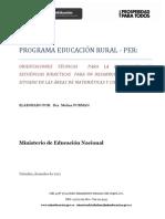Orientaciones para secuencias didácticas PER