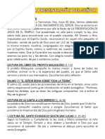 FIESTA DE LA PRESENTACIÓN DEL SEÑOR