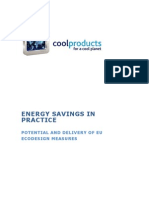 Energy Saving in Practice