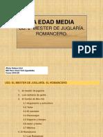 UD 2. MESTER DE JUGLARIA. ROMANCERO