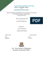 Sequence of IIP Report